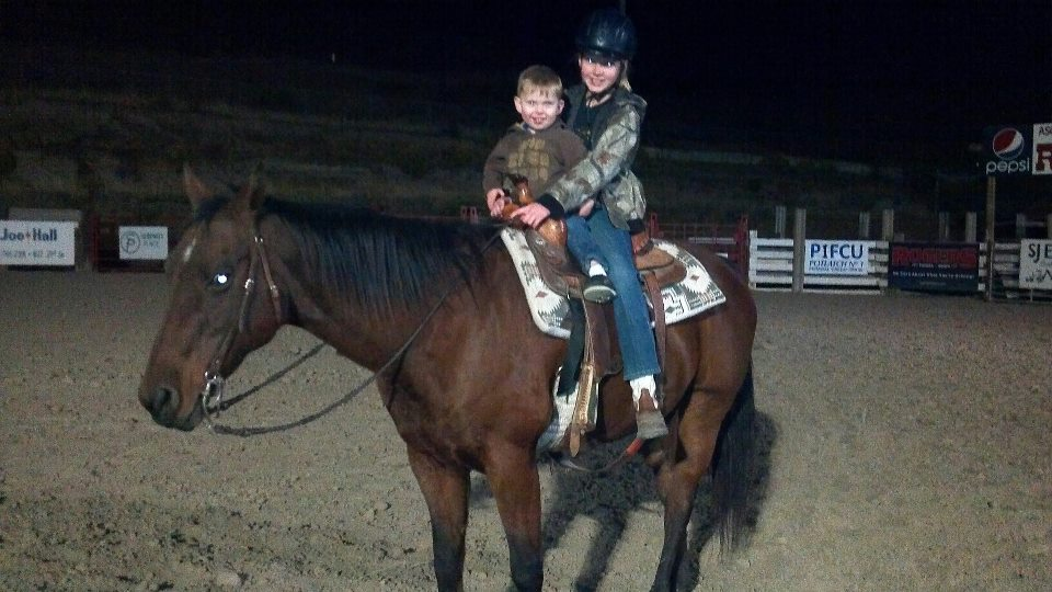 Jolee and Ryder on Andy